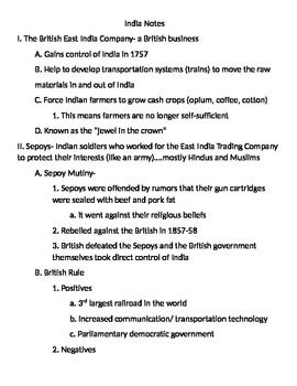 Global 2: India Notes