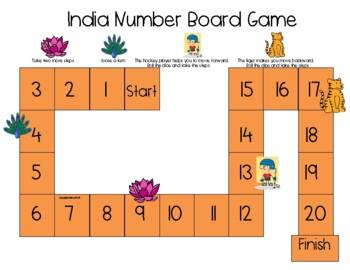 India Number Board Game Freebie!