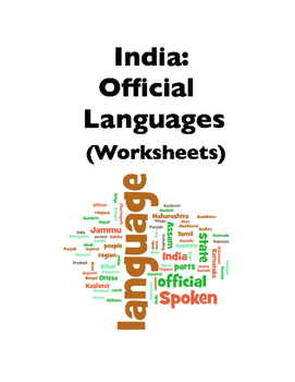 India: Languages (Worksheets)