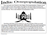 India: Overpopulation (causes and effects)