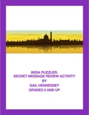 India Puzzler: Secret Message Activity
