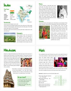 India (Fun stuff for elementary grades)