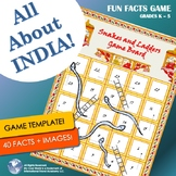 India! Fun Facts and Trivia Game w Images | Printable Game Materials | No Prep
