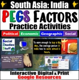 India (South Asia) PEGS Factors Interactive, Digital Lesson for Google Classroom
