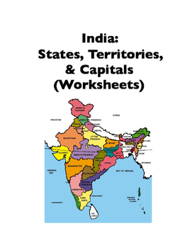 India: States and Capitals (Worksheets)