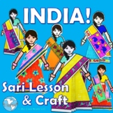 India! The Sari - Culture, Clothing - Lesson & Sari Tutorial Craft on Paper Doll