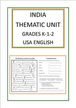 India Thematic Unit For Use With Grades K-1-2