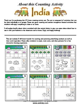 India Themed Number / Counting Activities