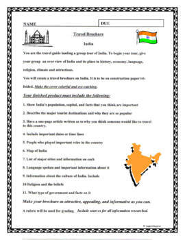 india travel brochure project project based learning by happyedugator