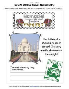 India - Weekly Unit for Preschool, PreK or Homeschool Preschool