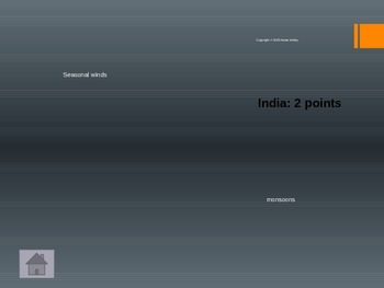 India and China Jeopardy Review Game