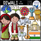 India and Diwali Clip Art