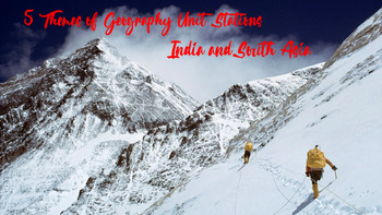 India and South Asia 5 Themes of Geography ENGAGING Stations!