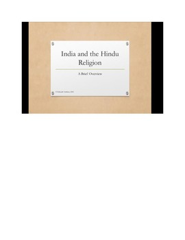 India and the Hindu Religion