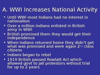 India between WWI and WWII