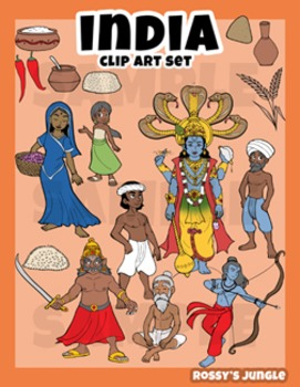 India clip art set