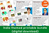 India themed Printable bundle for culture study