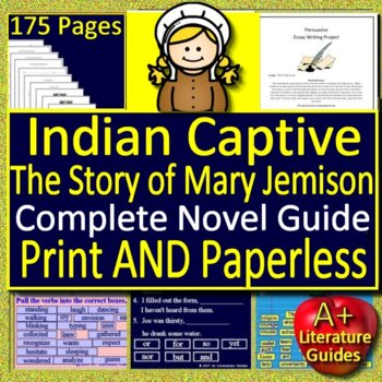 Indian Captive:  The Story of Mary Jemison Novel Study - FREE Sample!