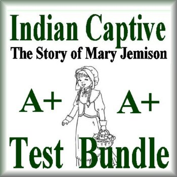 Indian Captive Novel Study Test Bundle Common Core Aligned