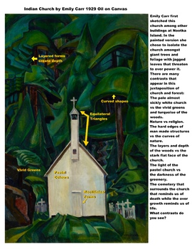 Indian Church by Emily Carr (a Study in Contrast and Culture)