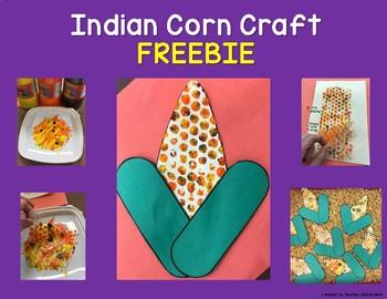 Indian Corn Bubble Wrap Craft FREEBIE