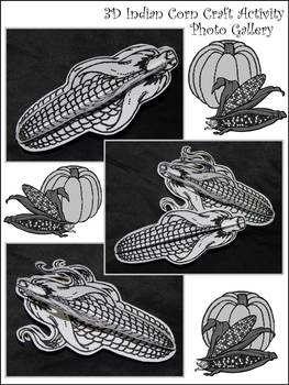 Indian Corn Crafts: 3D Indian Corn Fall-Thanksgiving Craft Activity Packet