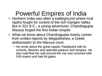 Indian Empires PowerPoint