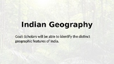Indian Geography PowerPoint Activity