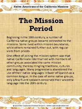 Indian Groups of the California Missions