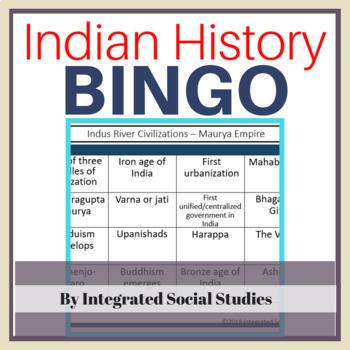 Indian History BINGO