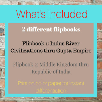 Indian History Flip Books