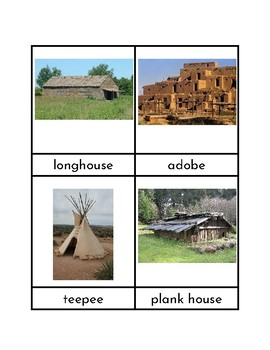 Indian Homes - Three/Four Part Cards