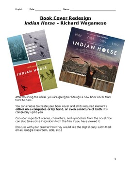 Indian Horse Book Cover Redesign Project