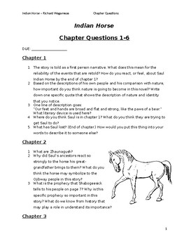 Indian Horse Novel Chapter Questions