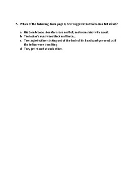 Indian In The Cupboard Chapter 1 comprehension quiz VA SOL aligned