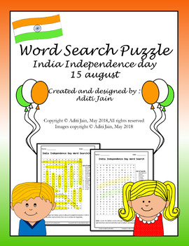 Indian Independence Day Word Search