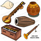 Indian Instruments Clip Art | Musical Instruments of India