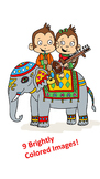 Indian Musical Monkeys Clipart
