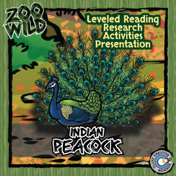 Indian Peacock - 15 Zoo Wild Resources - Leveled Reading, Slides & Activities
