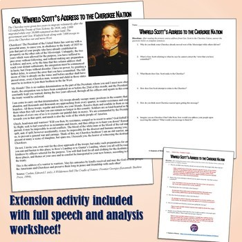 Indian Removal Act Primary Source Analysis Lesson Plan by Students ...