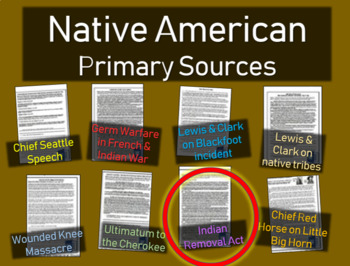 Indian Removal Act - Primary Source Document with guiding