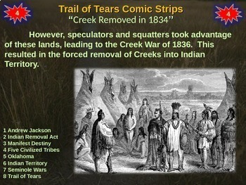 Indian Removal Act & Trail of Tears Comic Strip Activity - fun, easy engaging