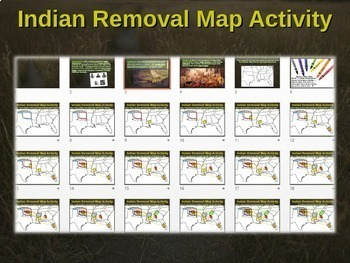 indian removal act trail of tears map activity engaging step by step lesson. Black Bedroom Furniture Sets. Home Design Ideas