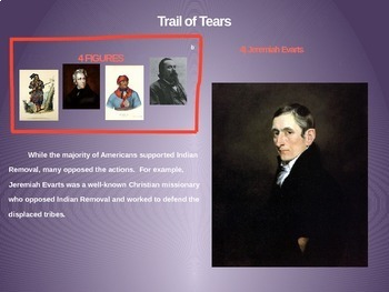 Indian Removal/Trail of Tears: 4 causes 4 figures 4 events 4 effects (20 slides)