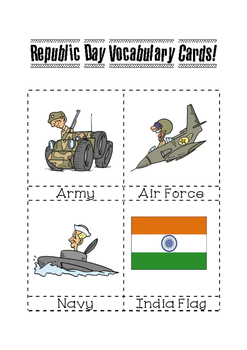 Indian Republic Day Vocabulary Cards