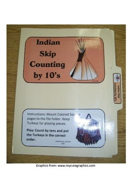 Indian Skip Counting by 10's: File Folder Activity