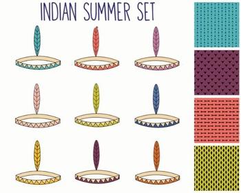 Indian Summer Clipart, Digital Design, Indian Summer Clipart Set #045
