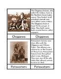 Indian Tribes of the Midwest - Three/Four Part Cards
