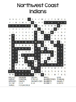 American Indian Tribe Word Search