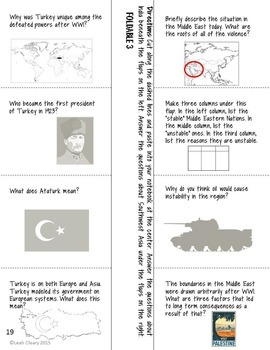 Indian and Southwest Asian Nationalism Foldable Graphic Organizers